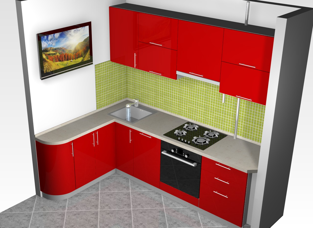 кухни под углом картинки соха