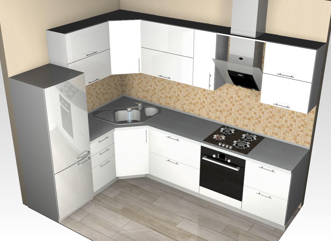План схема кухни фото